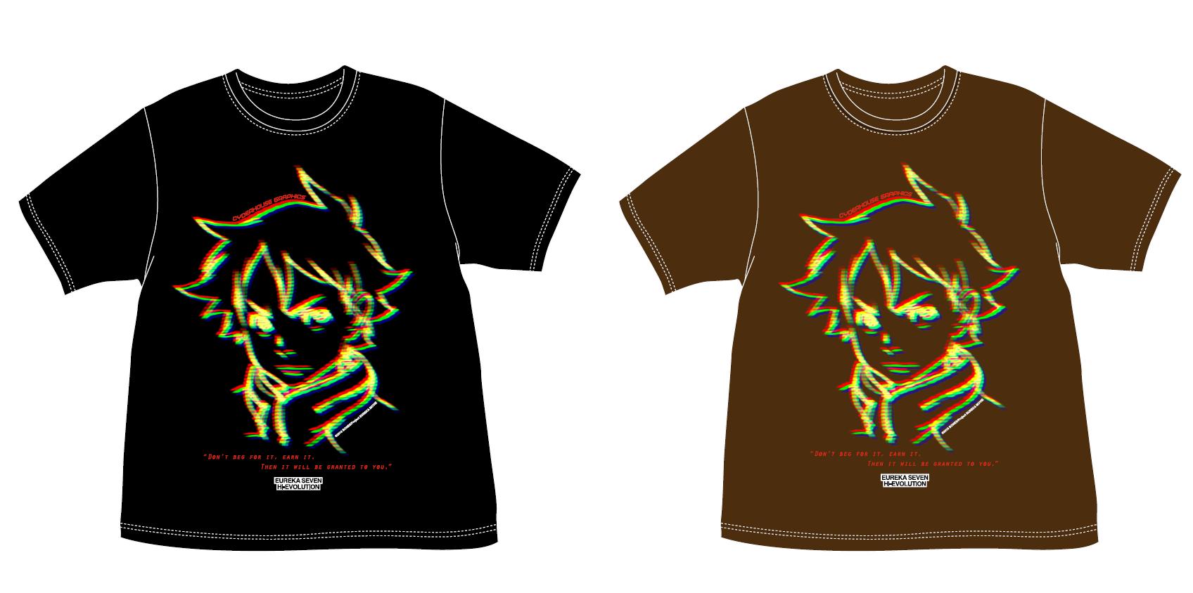 交響詩篇エウレカセブン ハイエボリューション×76Cafe  限定 CYDERHOUSEデザインTシャツ